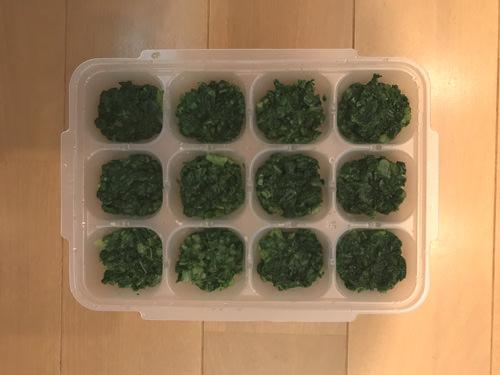チンゲン菜の冷凍保存