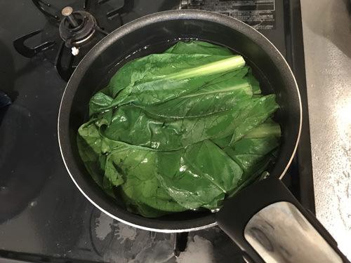 小松菜の下ごしらえ・冷凍保存