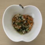 小松菜と鶏ささみとにんじん